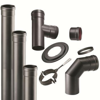 Kit pellet tubes black installation 80 mm
